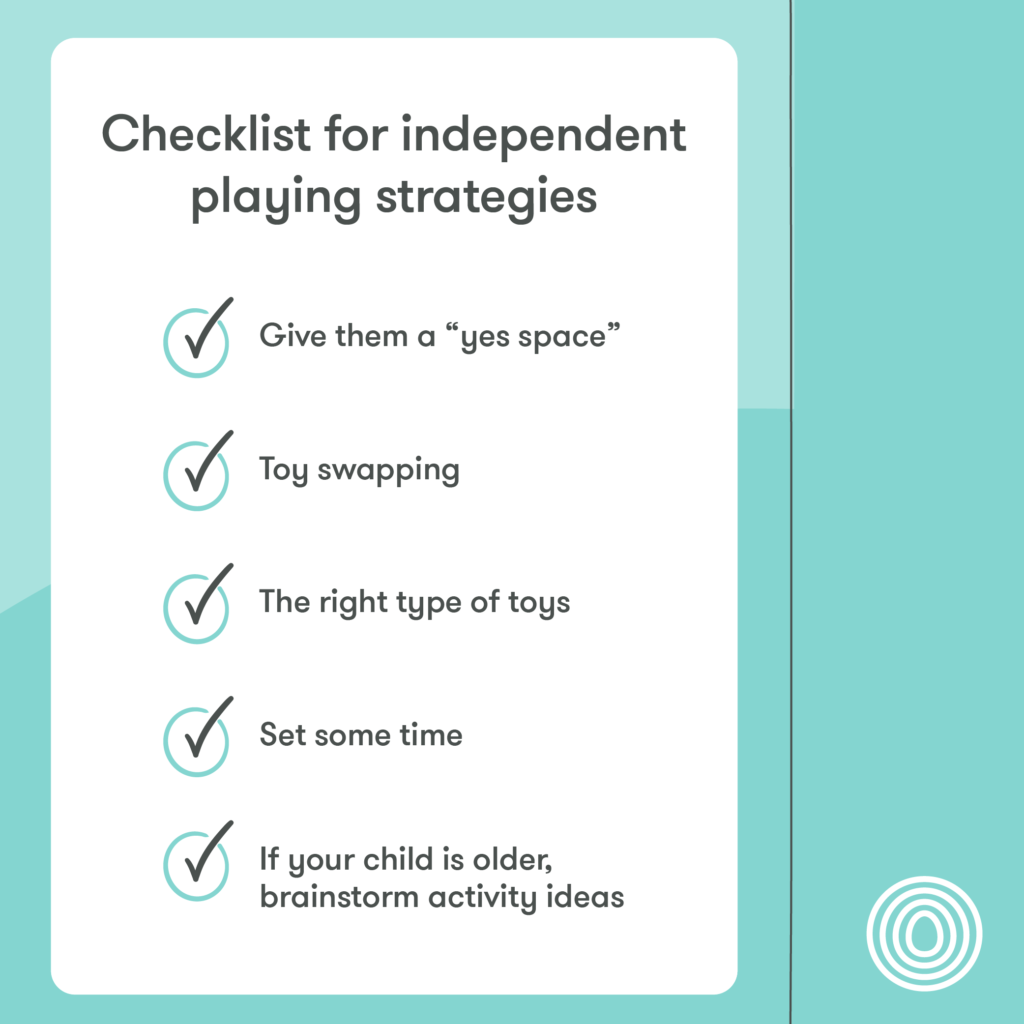 Checklist for independent playing strategies