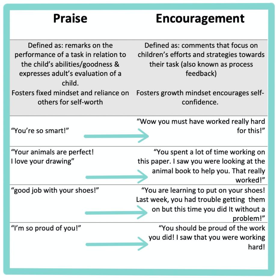 Praise VS Encouragement